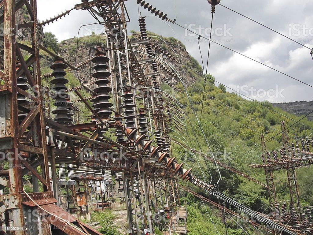 Armenia electric station royalty-free stock photo