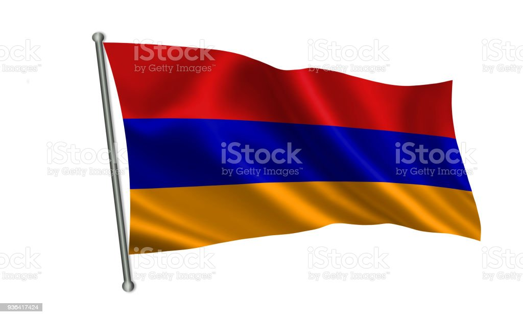 Armenia flag.  A series of 'Flags of the world.'  ( The country - Armenia flag ) stock photo