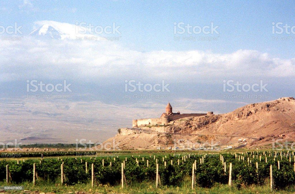 Armenia: Khor Virap monastery stock photo