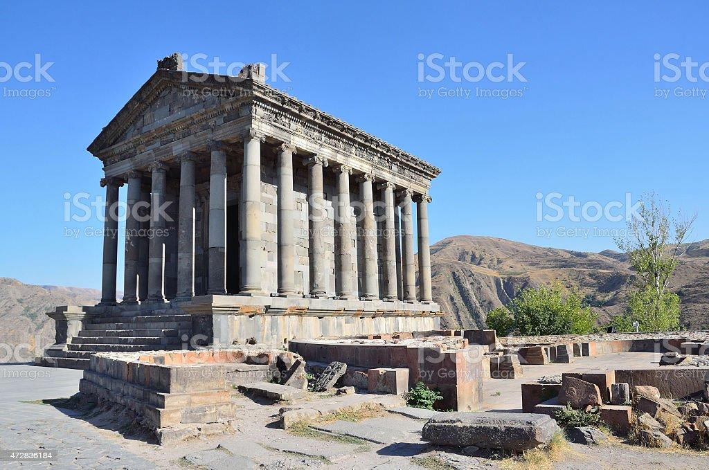 Armenia, pagan Sun temple at Garni, I century stock photo