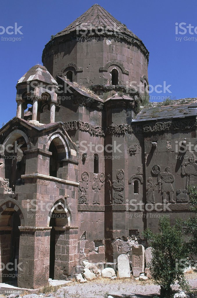 Armenian Akdamar Church Eastern Turkey stock photo