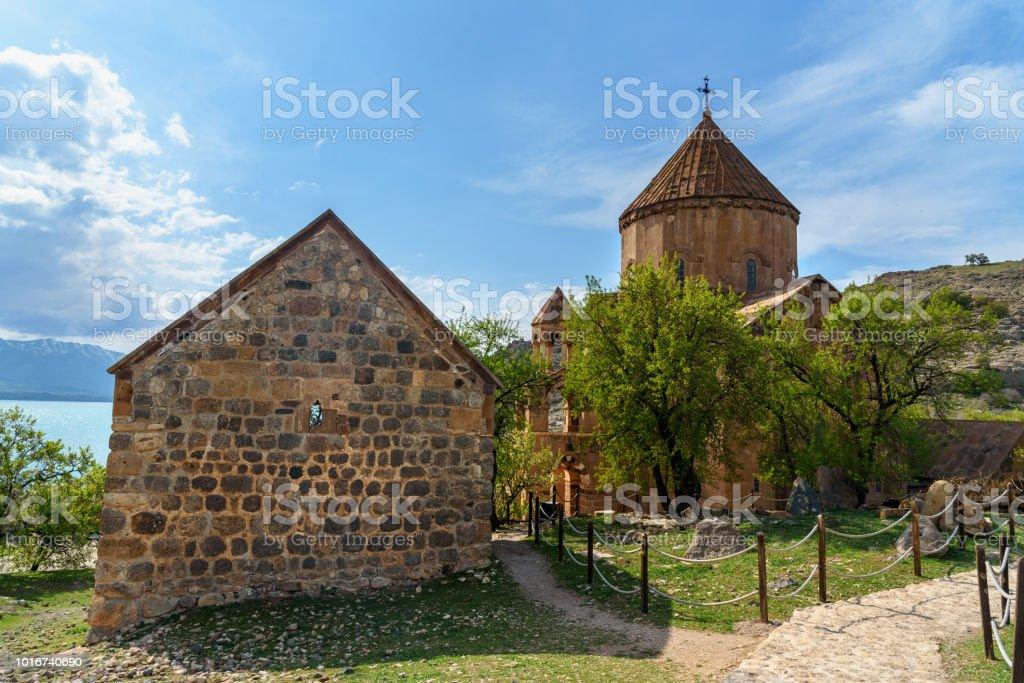 7eff3365c8 Armenian Cathedral Church of Holy Cross on Akdamar Island. Turkey - Stock  image .