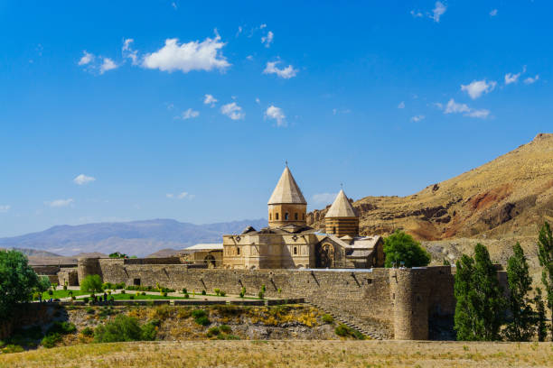 Armenian Church and Monastery in Iran Saint Mary Chapel and Saint Thaddeus Monastery in Maku Province in Iran armenian culture stock pictures, royalty-free photos & images