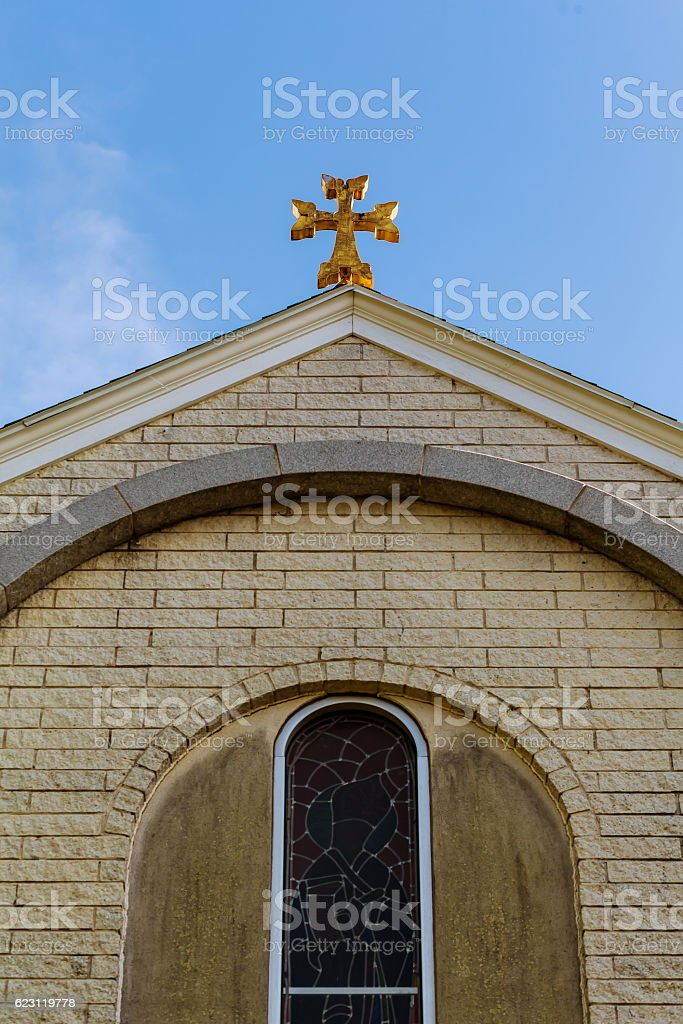Armenian Church of the Cross ancient , stock photo