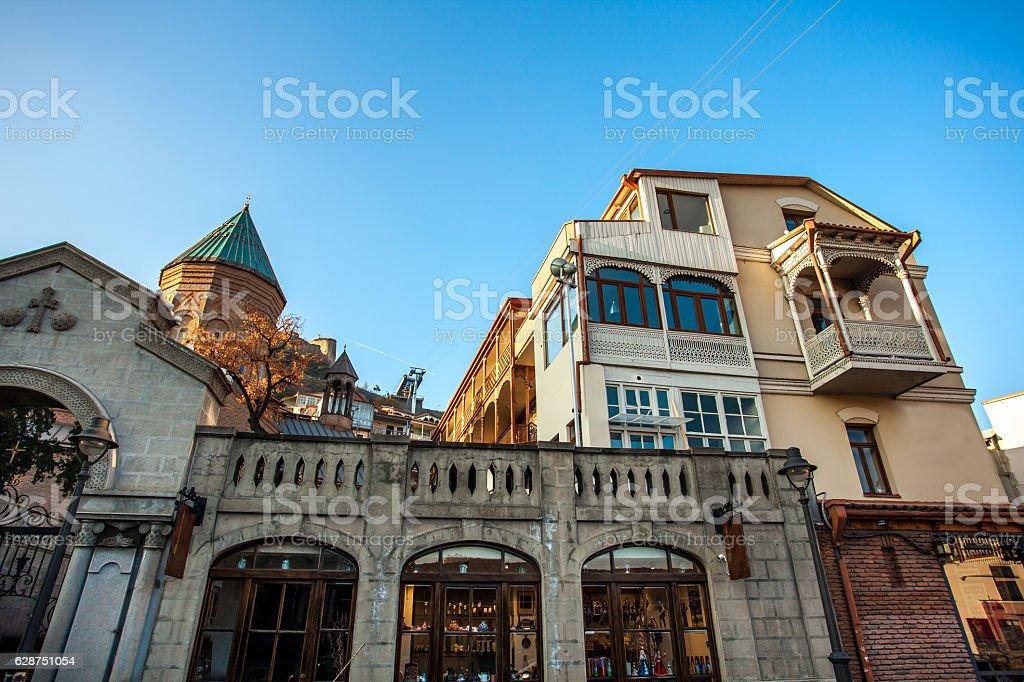 Armenian church on the oldest part of Tbilisi stock photo