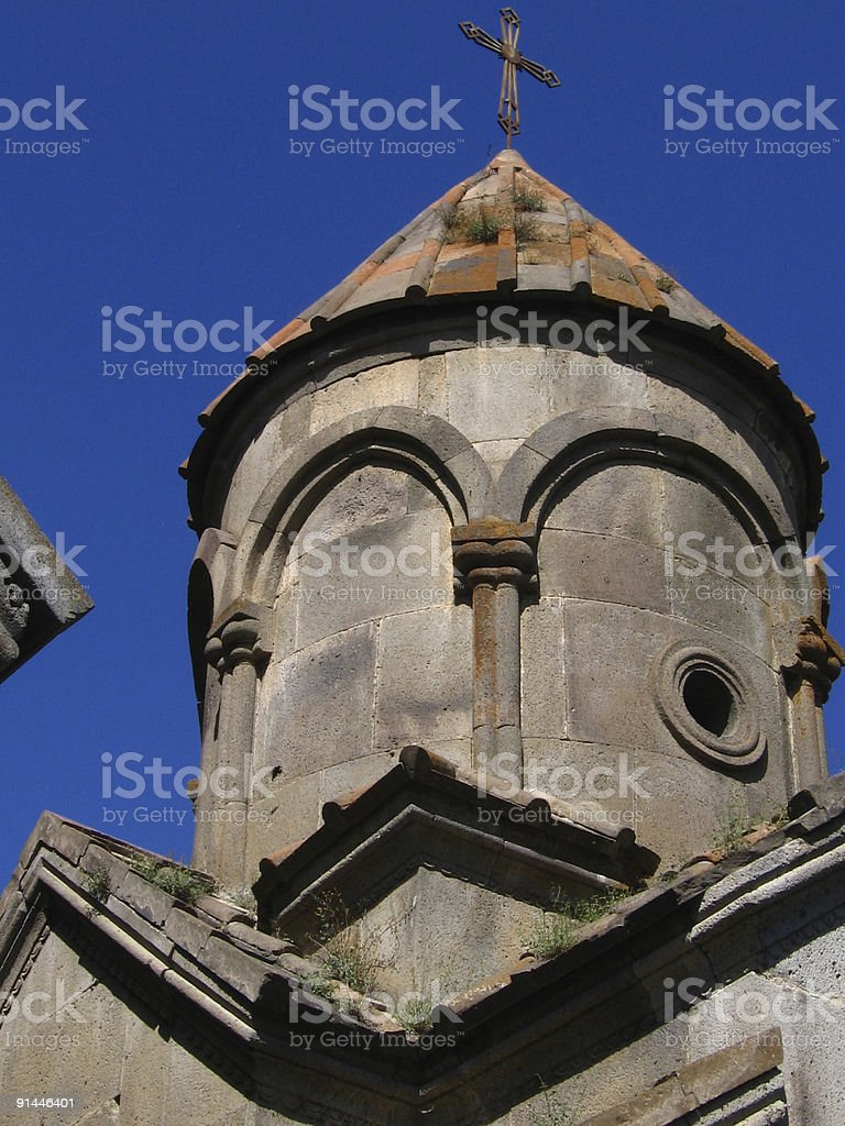 Armenian church, Tsaghkadzor royalty-free stock photo