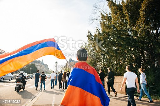 istock Armenian genocide 100th rememberance march in France 471649032