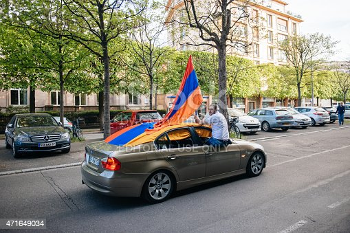 istock Armenian genocide 100th  rememberance march in France 471649034