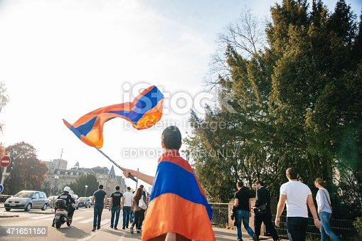 istock Armenian genocide 100th rememberance march in France 471651150