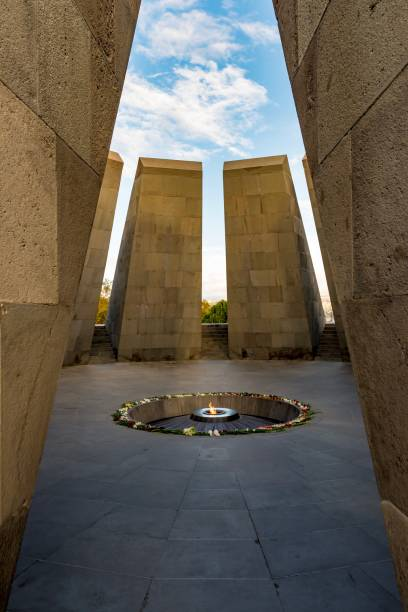 Armenian genocide memorial Memorial to genocide in Armenia armenian genocide stock pictures, royalty-free photos & images