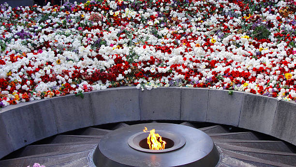Armenian Genocide Monument Monument dedicated to Victims of Armenian Genocide in 1915 armenian genocide stock pictures, royalty-free photos & images