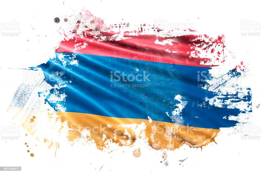 Armenian Ink Grunge Flag stock photo
