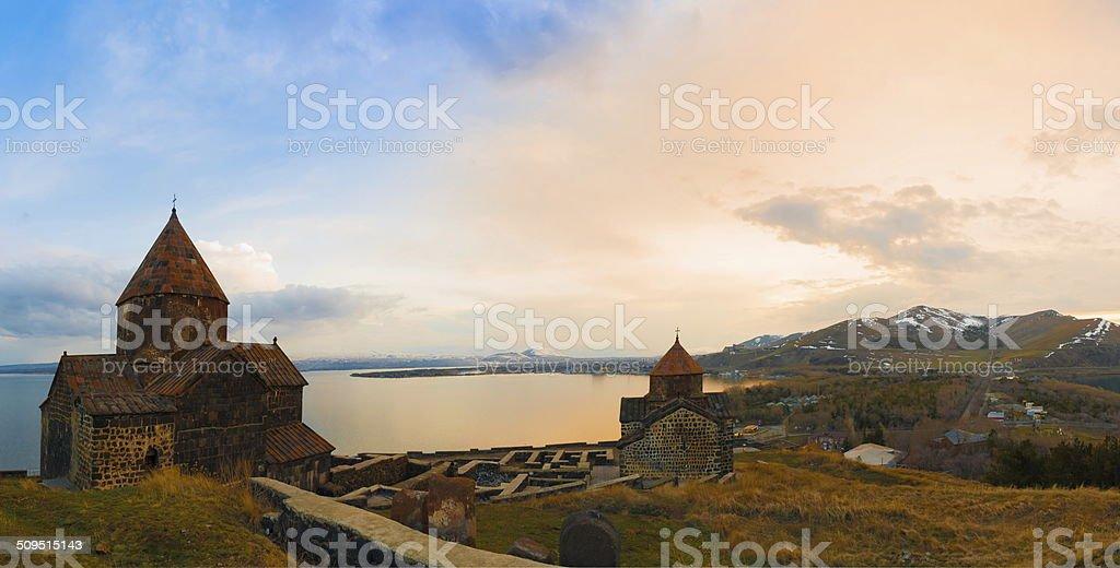 Armenian monastery stock photo