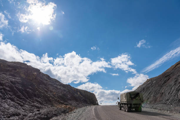 Armenian soldiers in Nagorno-Karabakh Sotk Pass, Armenia -September 25, 2016: A truck carrying Armenian soldiers, traveling from the disputed region of Nagorno-Karabakh to Armenia, crosses the 2400-meter Sotk Pass at the border of Armenia and Nagorno-Karabakh. armenian culture stock pictures, royalty-free photos & images