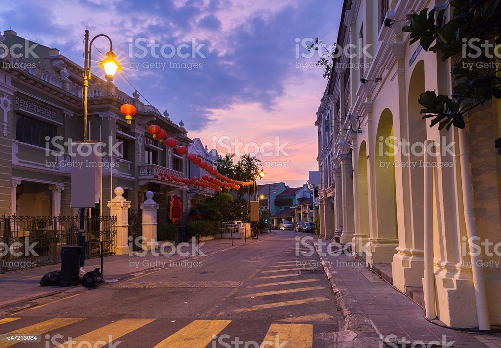 Armenian Street, George Town, Penang, Malaysia. stock photo
