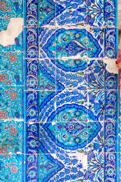 Armenian tiles with beautiful decorations in Jerusalem Armenian tiles with beautiful decorations in the Armenin Convent in Jerusalem, Israel armenian culture stock pictures, royalty-free photos & images