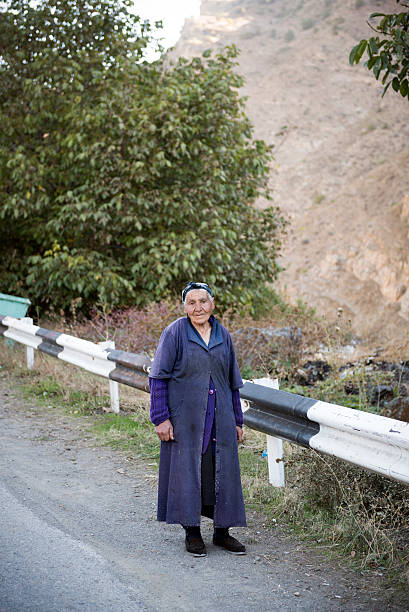 armenian woman in shatin, armenia - eastern european culture stock photos and pictures