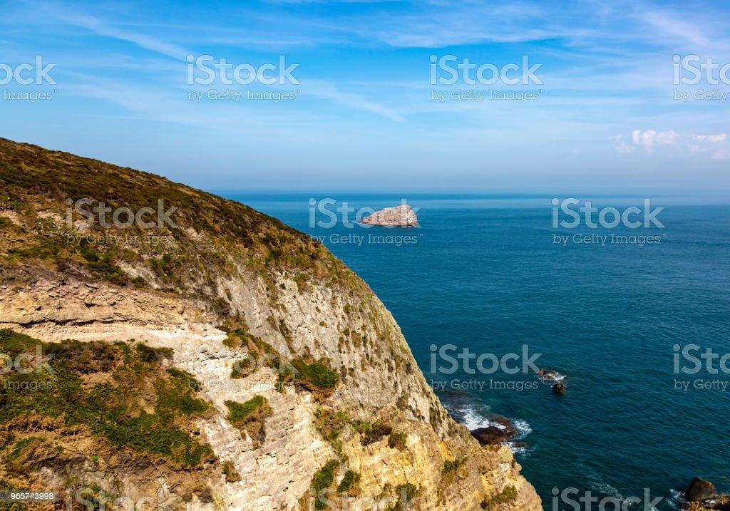 Armor kust in Bretagne - Royalty-free Achtergrond - Thema Stockfoto