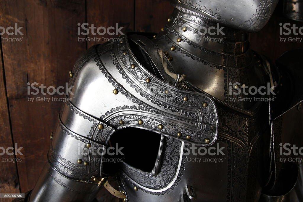 Armor Shoulder royaltyfri bildbanksbilder