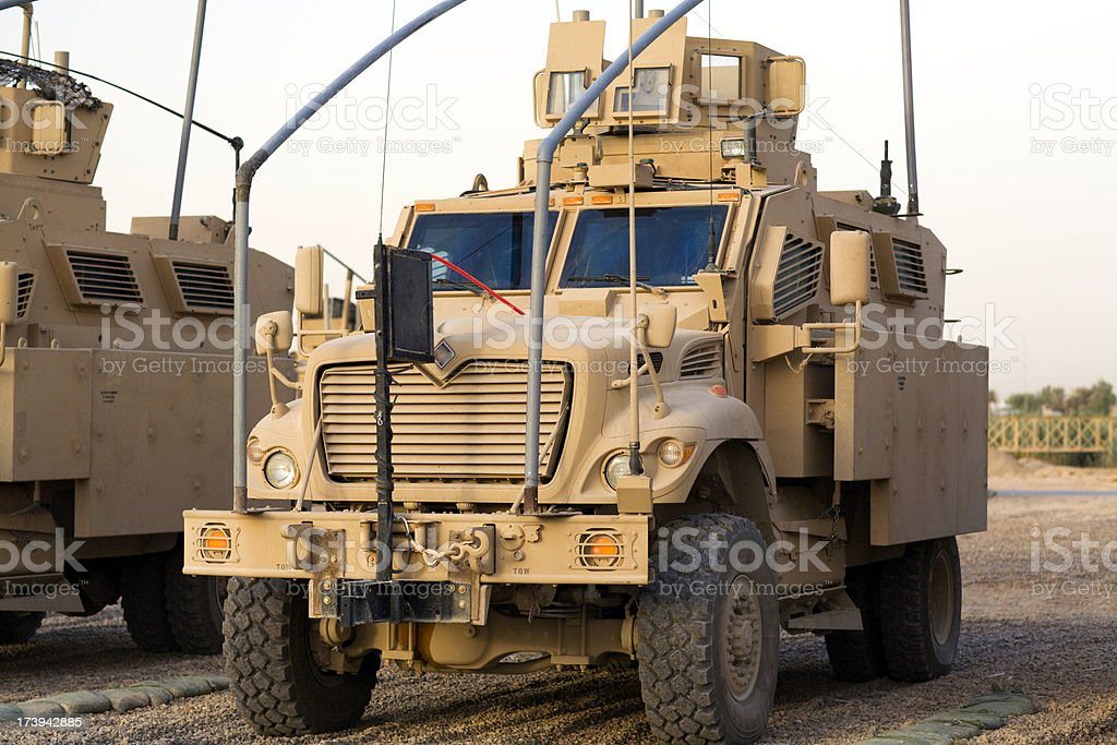 Armored Army Truck stock photo