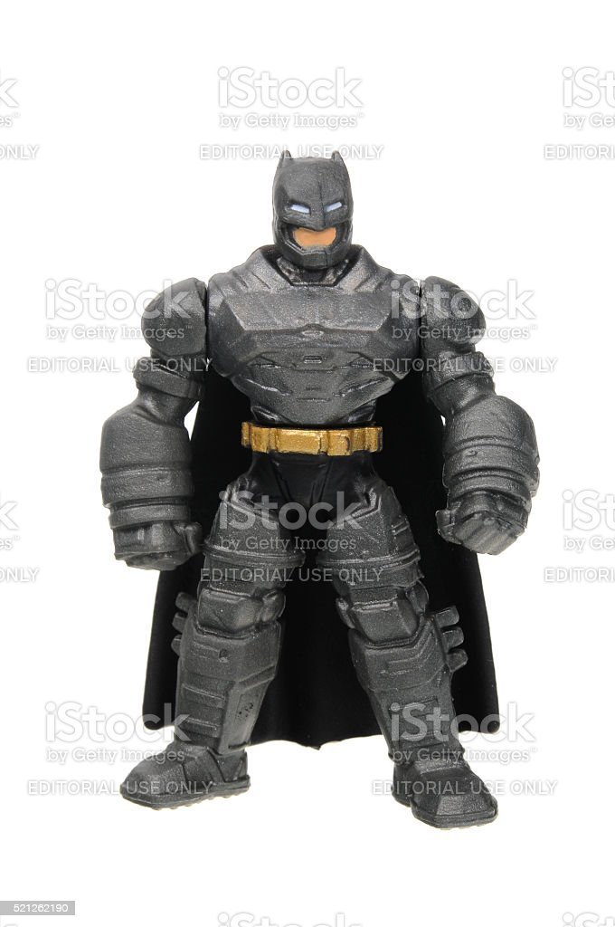 Armored Batman Action Figure stock photo