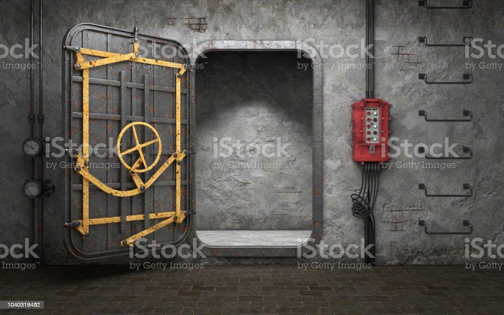 Photo libre de droit de Porte Blindée De Métaux Lourds Dans ...