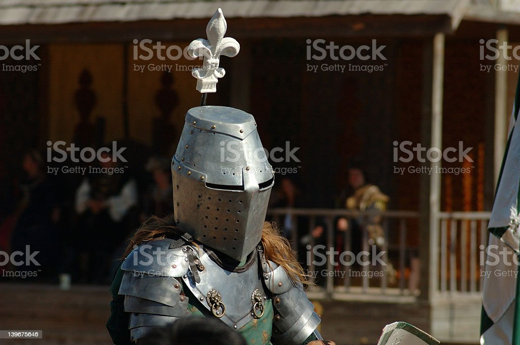 Armored Knight stock photo