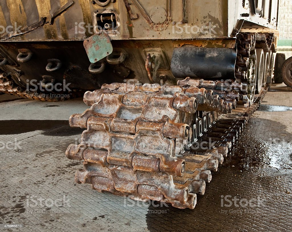 armored personnel carrier after a mine explosion stock photo