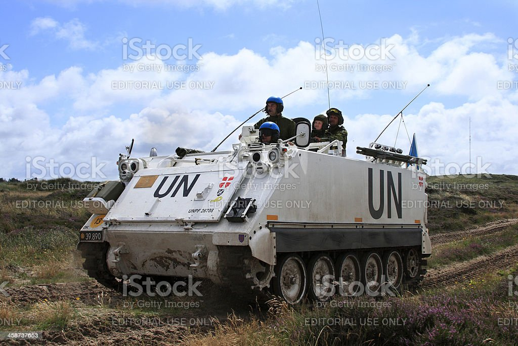 Armored personnel carrier royalty-free stock photo