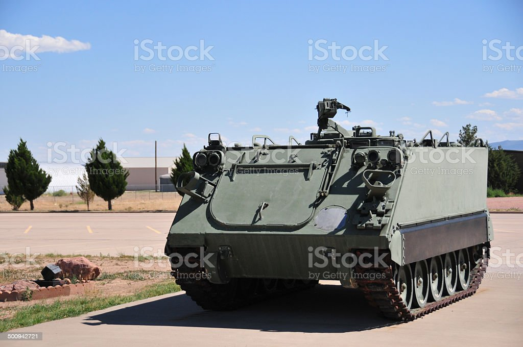 M113 armored personnel carrier (unmarked) stock photo