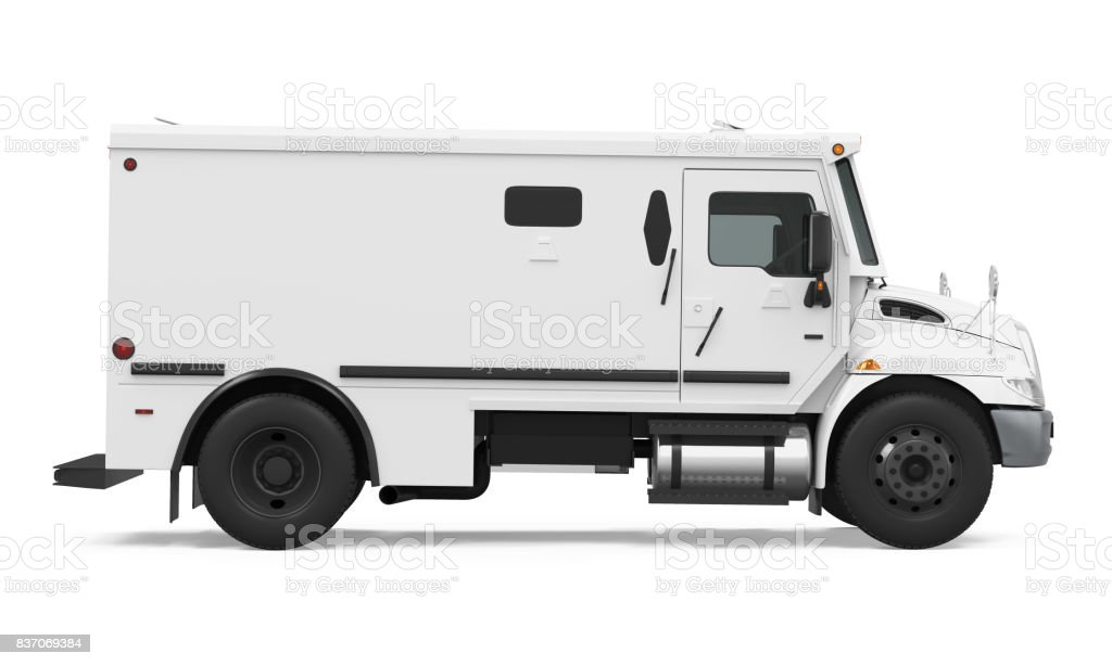 Armored Truck Isolated stock photo