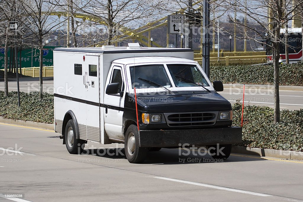 Armored Truck stock photo