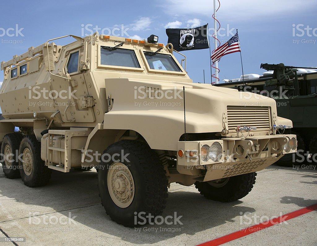 MRAP Armored Vehicle stock photo