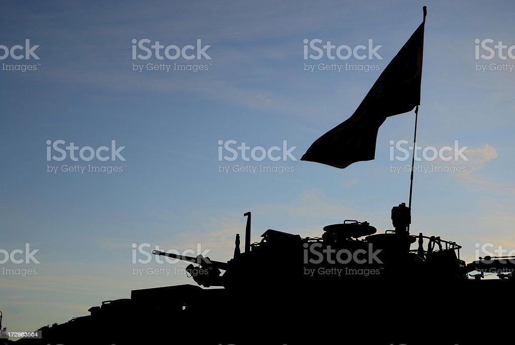 Armored vehicle silhouette royalty-free stock photo