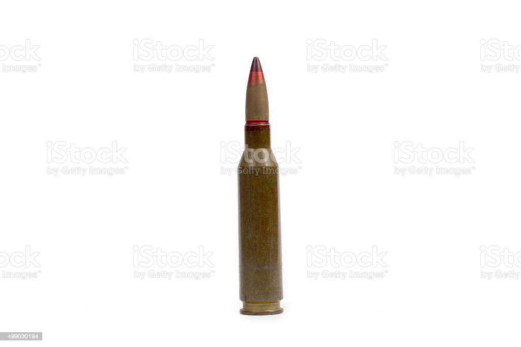 Armor-piercing incendiary bulet 50 caliber stock photo