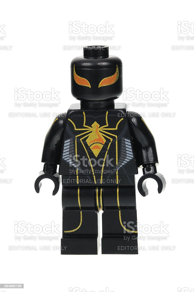 Armour MK2 Spiderman Minifigure stock photo