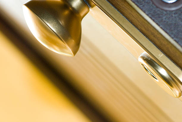 Armoured door stock photo