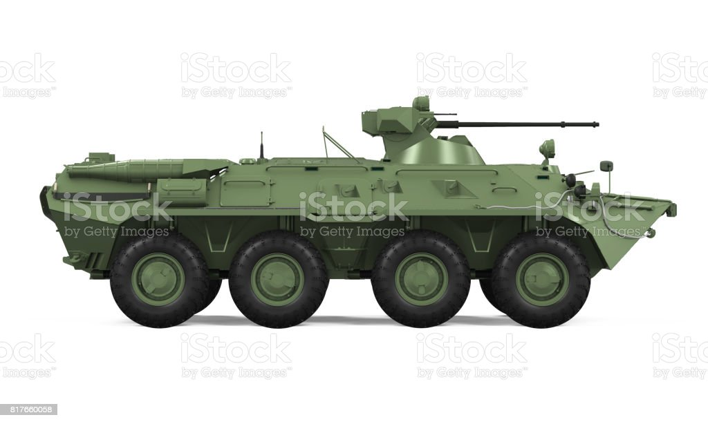 Armoured Personnel Carrier Isolated stock photo