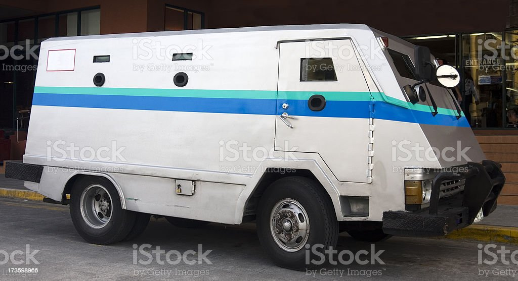 Armoured truck stock photo
