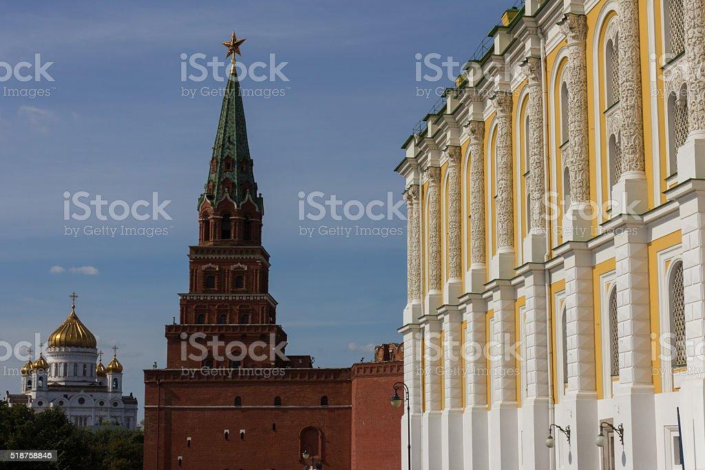Armoury chamber yard, Kremlin, Russia stock photo