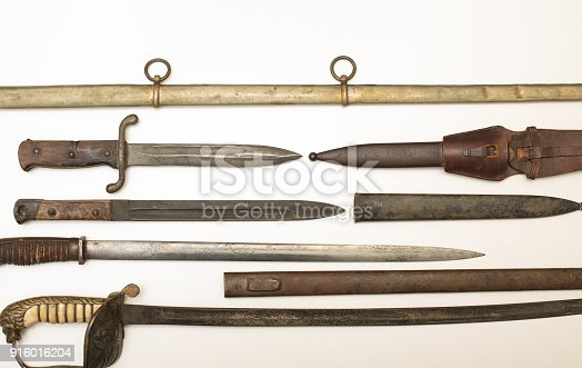 istock Armoury display of historic swords and daggers 916016204