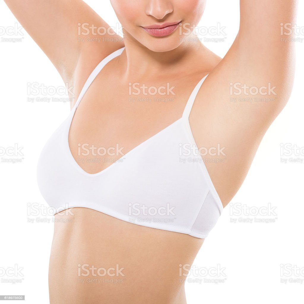 Armpit epilation stock photo