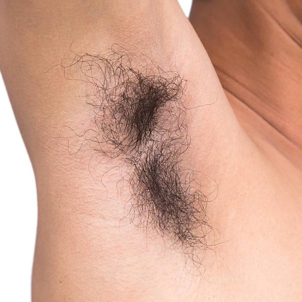 armpit hair stock photo