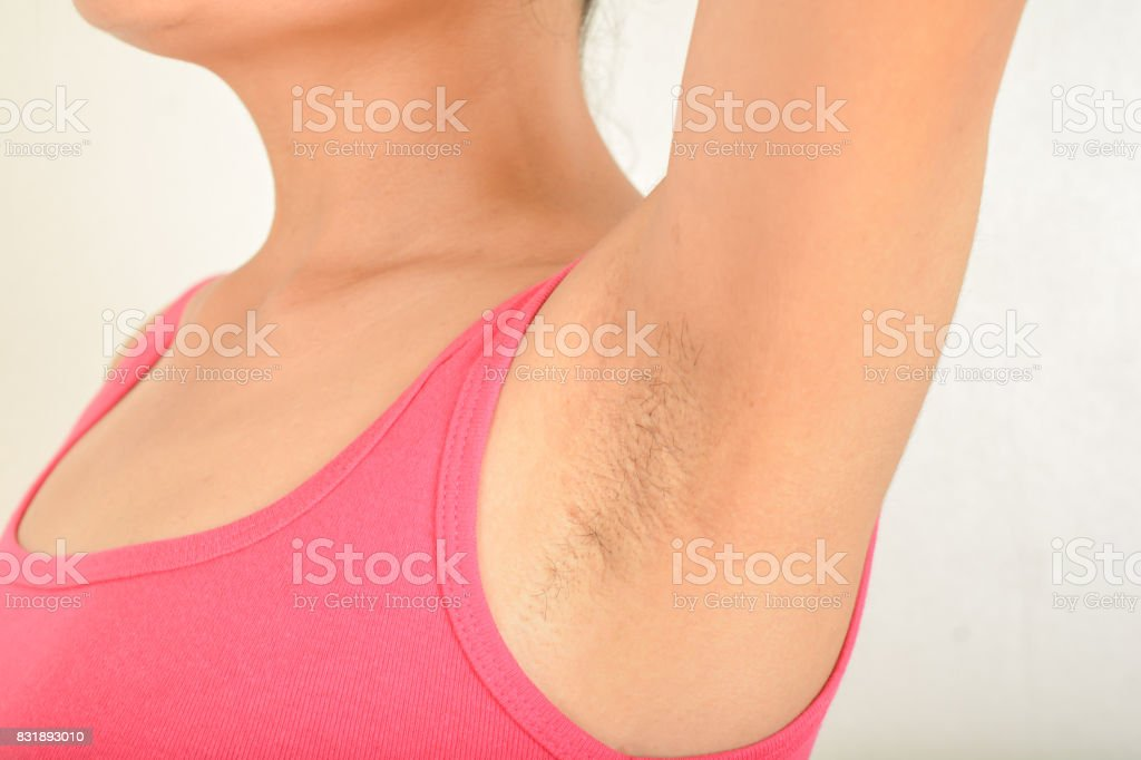 armpits and  Hairy of women stock photo