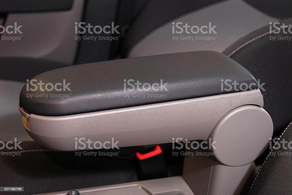 armrest of the car and handbrake stock photo