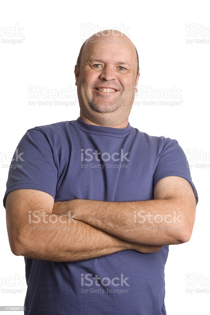 Arms Folded royalty-free stock photo