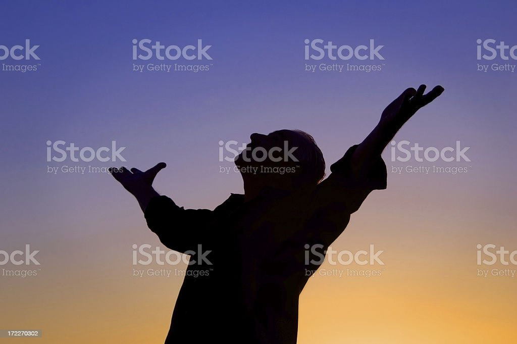 Arms Open Wide stock photo