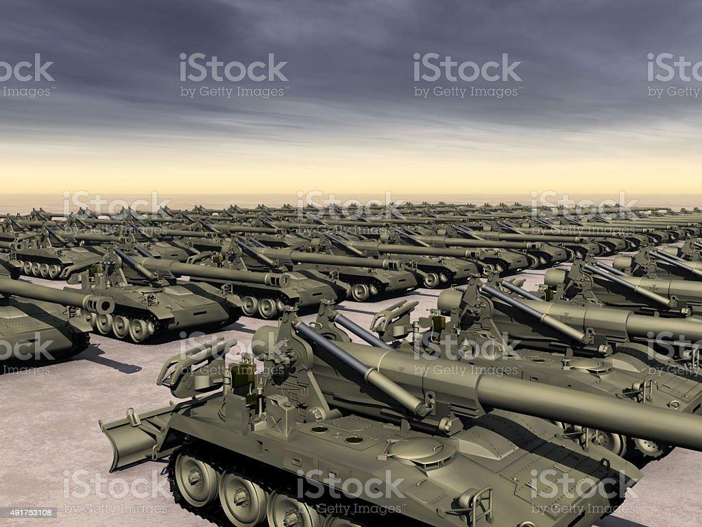 Arms Race stock photo