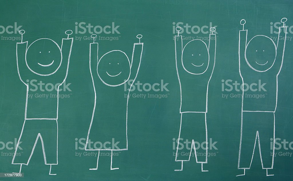 Arms Raised in Victory stock photo