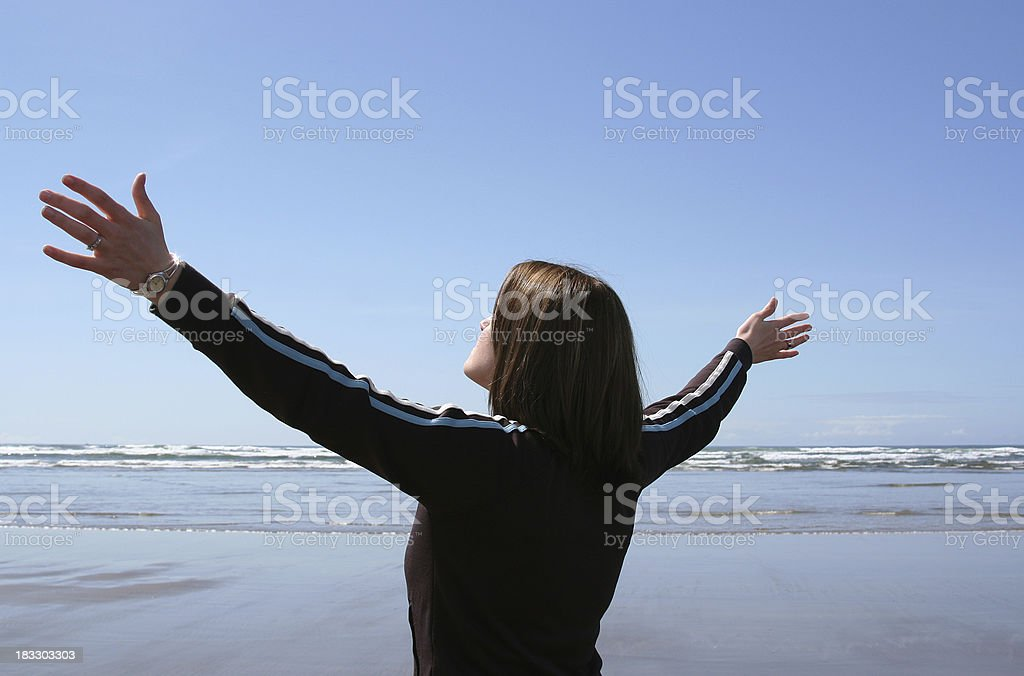 Arms Raised in Worship royalty-free stock photo